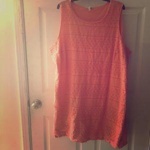 Peach/ Coral Sundress